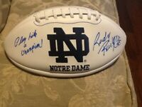Rudy Ruettiger Autographed Notre Dame Football