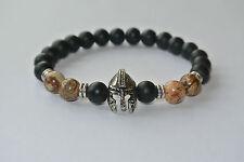 Gladiator Armband Onyx Edelstein Jaspis braun 1A Qualität Armreif Schmuck Buddha