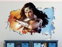 Wonder Woman Movie wall decals stickers mural home decor for bedroom Art ST157