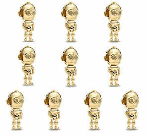 10pc European Gold Charm Bead For Bracelets Necklace Pendants Chain