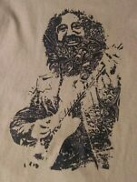 Grateful Dead T Shirt Jerry Garcia Hand printed 60's Vintage Style swirl tan