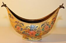 Suffering Moses BRASS/WOOD  Paper Mache BOAT SHAPE  BOWL