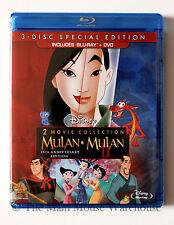 Disney Mulan and Mulan II Blu-ray & DVD 2 Movie Pack Animated Ancient China