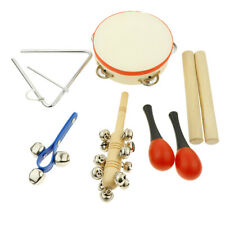 Musical Instruments 6 Types Percussion Toy Set, Tambourine, Maracas, Rattles,