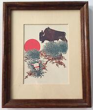 PAUL GOBLE Native American Indian Southwest Southwestern Buffalo Bison Art Print