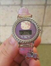 Hello Kitty Digital Watch HK1237 with Bow Charm 2010 Pink Purple Little Girls