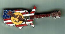 "HRC INTERNATIONAL ""AMERICA"" 1993 USA Shape Flag  Guitar Pin - RARE"