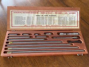 starrett inside micrometer set 823F