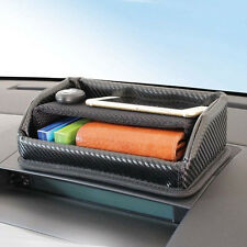 New Car Dashboard 2 Level Carbon Style Storage Box Tray Car Accessories