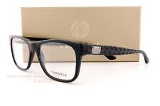 Brand New VERSACE Eyeglass Frames 3199 GB1 for Men BLACK 100% Authentic SZ 53