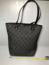 AUTH-Guccissima GUCCI 31244 002414 GG canvas Tote Bag Denim canvas/Leather-AS-IS