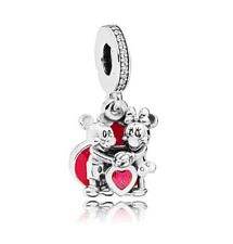 DIY 925 Silver Mickey Minni Charm European Spacer Beads Fit Necklace Bracelet !!