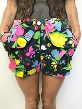 FAB ALANNAH HILL FLORAL COLOURFUL PRINT SHORTS SZ 8 HAS POCKETS, LINED, SIDE ZIP