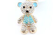 Big Blue Teddy Bear Giant Fashion Keychain Rhinestone Animal Cute Gift E10