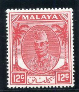 Malaya- Kelantan 1952 KGVI 12c scarlet superb MNH. SG 70. Sc 67.