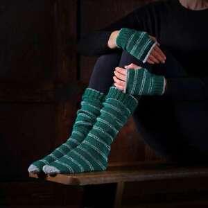 Harry Potter Slytherin Socks & Mittens Knitting Set Officially Licensed