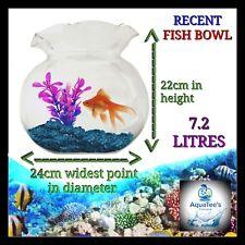 RECENT FLUTED Fish bowl 7.2 LITER NANO AQUARIUM FISH TANK NO WATER PUMP FILTER