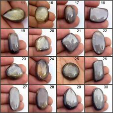 NATURAL SPARKLE BROWN SUNSTONE CABOCHON LOOSE GEMSTONE FREE SHIPPING MON-B