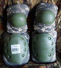 Advanced Elbow and Knee Pads ACU Digital Camo Water Resistant Airsoft Paintball
