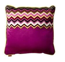 MISSONI For Target Purple Passione Zig Zag Chevron Toss Throw Pillows Set of 2