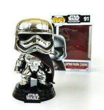 FUNKO POP vinyl StarWars Smugglers Bounty Captain Phasma Chrome 91 EXCLUSIVE sw