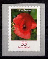 Bund 2477 **, Blumen, Rollenmarke auf Folie