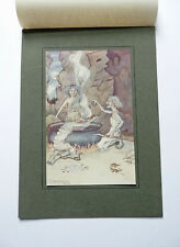 """ORIGINAL PRINT """"TALES OF SHAKESPEARE"""" ENGAGED IN DREADFUL CHARMS by May Mulliner"""