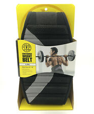 """Golds Gym Contoured Adjustable Weight Belt Size L/XL 34-48"""" Support Comfortable"""