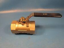 """32H986 2"""" 316 Stainless FNPT x FNPT Fire Safe Ball Valve Locking Lever(Grainger)"""