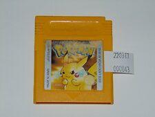 Game Boy: Pokemon Edición Amarilla (cartucho, versión ESP, pila nueva) deterioro