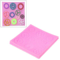Steampunk Gears Fondant Cake Silicone Mold DIY Chocalate Jelly Pudding Decor