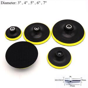 3'' - 7'' Backing Pad Hook & Loop M10 M14 for Angle Grinder Sander Sanding Disc