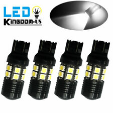 4x White 7443 7440 7W 6000K High Power Tail Brake Stop Interior LED Light Bulbs