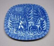 Rorstrand Christmas Plate 1968 Bringing Home The Christmas Tree Gunnar Nylund
