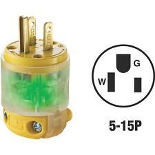 10-Leviton 15A 125V 3-Wire 2-Pole Illuminated Electric Cord Plug R50-515PV-LIT