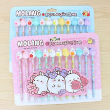 Molang The Happy Rabbit Mini Character Figure Cap Pencil 12 PCS Set Ver.4