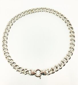 SILVER OLD FLORENCE HEAVY CURB CHAIN NECKLACE RRP £550.00