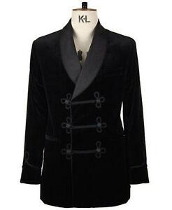 Men Black Elegant Luxury Stylish Designer Velvet evening Party Wear Blazer Coat
