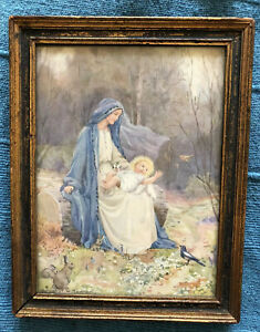 margaret w tarrant Print ed Vintage Religious Picture In A Frame Medici Society