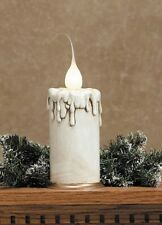 """FAT Electric Candle Lamp w/ Silicone Covered Bulb, on/off switch-5"""" High by 3""""w"""