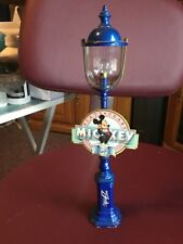 """RARE Disney LIGHT gauge train Pole light w/Mickey """"Sixty Years"""" Sign attached."""
