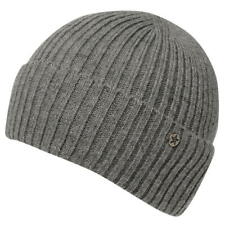 MENS LIGHT GREY NO FEAR DOCK FISHERMANS HAT KNIT KNITTED BEANIE BEENIE