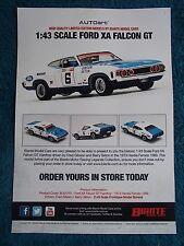 BIANTE 1:43 BROCHURE FORD XA FALCON GT HARDTOP 1973 BATHURST GIBSON/SETON 1 ONLY