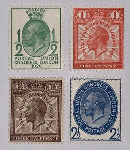 Travelstamps: Great Britain Stamps Scott#205-208  Mint Original Gum Never Hinged