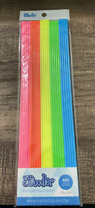 3Doodler Pack 25 Strands PLA 3D Printing Filament AB-MIX4 Blue Green Orange Pink