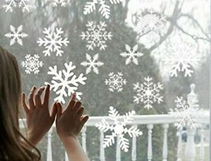 27pcs White Snowflakes Sticker Decoration Glass Window Room Wall Decals