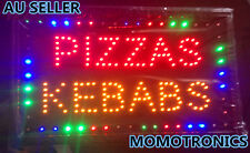 LED NEON PIZZA KEBAB PIZZAS  KEBABS Sign for SHOP,HOME,BUSINESS SIZE:55CM X 33CM