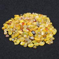 200g Bulk Tumbled Stone Yellow Agate Quartz Crystal Healing Reiki Mineral +Pouch