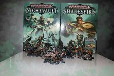 Warhammer Underworlds - Shadespire + Nightvault + 7 Warbands. BEMALT !!!
