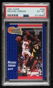 1991-92 Fleer Michael Jordan #220 PSA 6 HOF
